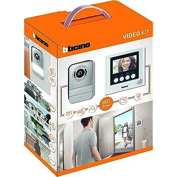 """BTicino 316913 Kit Videocitofono 2 Fili, 4,3"""", Mono/Bifamiliare, Bianco"""