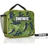 Fortnite Bolsa para El Almuerzo, Diseño Color Verde, Mochila para Llevar Comida para Fans De los Videojuegos, Trabajo Colegio