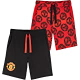 Manchester United F.C. Boys Shorts, Official Football Shorts for Children, 100% Cotton Jogger Shorts for School Sports, Gifts