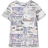 IKKS Junior tee-Shirt Gris Chiné Imprimé Camiseta para Niños