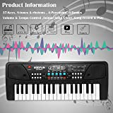 zest 4 toyz zest toyz 37 key piano keyboard toy with dc power option, recording and mic,Plastic- Multi color,Pack of 1