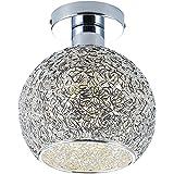 DAXGD Lampe en aluminium de plafond Mini plafonnier pour le vestiaire, le couloir et le salon (Diamètre du plafonnier: 15cm)