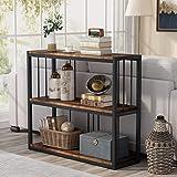 Tribesigns Table console pour couloir, canapé avec étagères, table d'entrée étroite industrielle pour salon, chambre à couche
