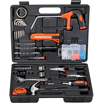 Black+Decker Hand Tool Kit (108-Piece), Orange and Black