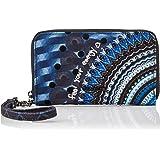 Desigual Wallet Rep Blue Friend_Mini Zip, Billetera para Mujer