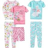 Simple Joys by Carter's 6-Piece Snug Fit Cotton Pajama Set Bebé Niñas, Pack de 6