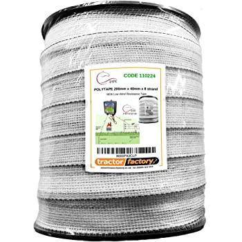 VOSS.farming Electric Fence Tape Insulators with Wood Screws; For Rope and Tape up to 40mm