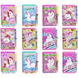 Asera Spiral Diary with Pen in Unicorn Design Cartoon Character Prints for Kids Birthday Return Gifts - Unicorn Theme Party G
