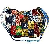 GURU SHOP Patchworktasche Bali, Herren/Damen, Mehrfarbig, Baumwolle, Size:One Size, 35x40x7 cm, Alternative Umhängetasche, Ha