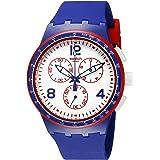 Swatch Montre à Quartz Suisse Unisexe SUSZ100 Originals - Affichage analogique - Bleu