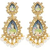 The Luxor Non-Precious Metal Gold Plated Cubic Zirconia Earrings For Women's & Girls