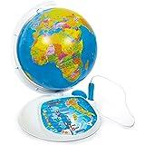Clementoni - 11994 - Sapientino - Esploramondo, globo interattivo, mappamondo con penna interattiva, gioco educativo elettron