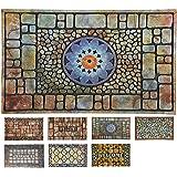 LucaHome - Felpudo Entrada casa de Goma-Flocada Texas 45x75 cm Forma Base Antideslizante, Felpudo Premium, fácil Limpieza, Fe