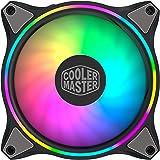 Cooler Master MasterFan MF120 Halo ARGB - Ventilateurs de Boîtier 120 mm, Éclairage RGB Adressable à Double Boucle, Pales Hyb