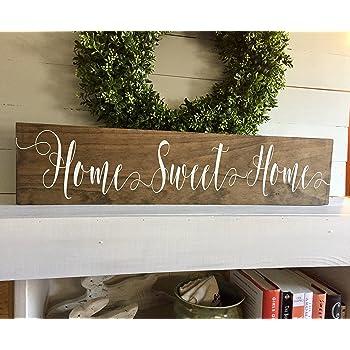 British Handmade wooden sign Happiness is homemade