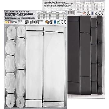 Schrumpfschlauch Transparent 2:1 Bund Meterware 1-40mm 1-5 Meter 10 mm 5 Meter