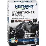 Heitmann Wäsche Schwarz Tücher (10 Tücher, Schwarz): Färbetücher zur Farbpflege für schwarze Textilien, Farb-Erhalt beim Wasc