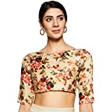 TINSIE Women's Brocade and Georgette Readymade Saree Blouse