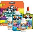 ELMER'S Kit per Slime Colorato, include Colla Vinilica Colorata Semitrasparente, Colori Assortiti, con Liquido Magico Attivat