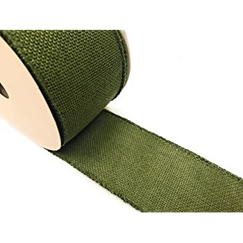 Natural Linen Frayed Edge Ribbon 32mm x 10m By Eleganza