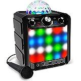 ION Audio Party Rocker Express - 40W draagbaar draadloos Bluetooth luidsprekersysteem en karaoke centrum met feestverlichting