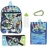 مجموعة حقائب الظهر ديزني توي ستوري للأولاد - مجموعة اقتصادية من 5 قطع - حقيبة مدرسية 40.64 سم للأولاد الابتدائية