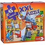 Noris Spiele 606038000 - Puzzle Gigante Bomberos, 45 Pieza