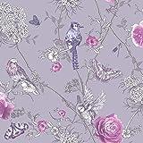 Arthouse 692404 Paradise Garden Wallpaper, Lilac, One Size