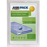 ASK Pack Housse De Protection Matelas Junior Premium - - Imperméable et Résistant aux Déchirures - avec Fermeture éclair…