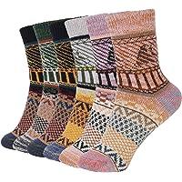 Bearbro Calze da Donna in Cotone Calze di lana,6 Paia donne calzini inverno caldo morbido annata,Autunno Inverno Maglia…