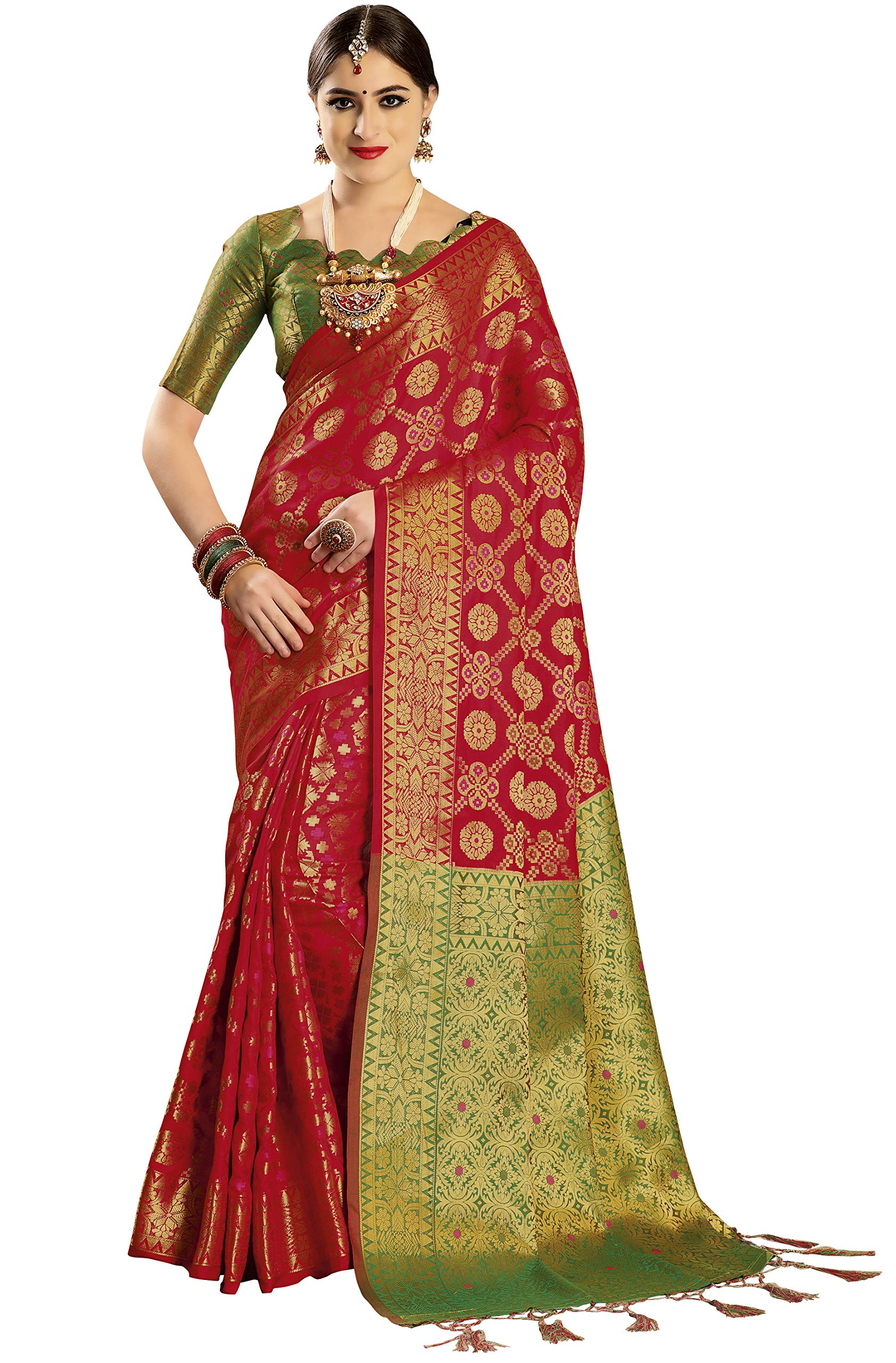 930dd1d74586e8 EthnicJunction Patola Design Double Ikat Wovening Saree With ...
