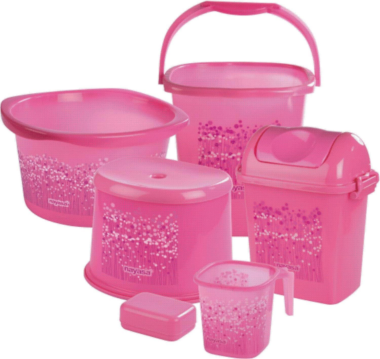 Nayasa Funk Bathroom Set Deluxe  6 pieces  Pink  Amazon in  Home   Kitchen. Nayasa Funk Bathroom Set Deluxe  6 pieces  Pink  Amazon in  Home