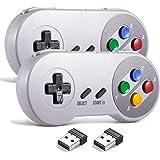 miadore - Controlador USB inalámbrico para emulador SNES, 2,4 G, USB, mando para videojuegos, palanca de mando, SNES, control
