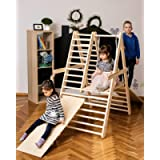Gym for toddlers, Step Triangle, Climbing ladder for toddler, Climbing triangle for toddlers, Triangle with ramp…