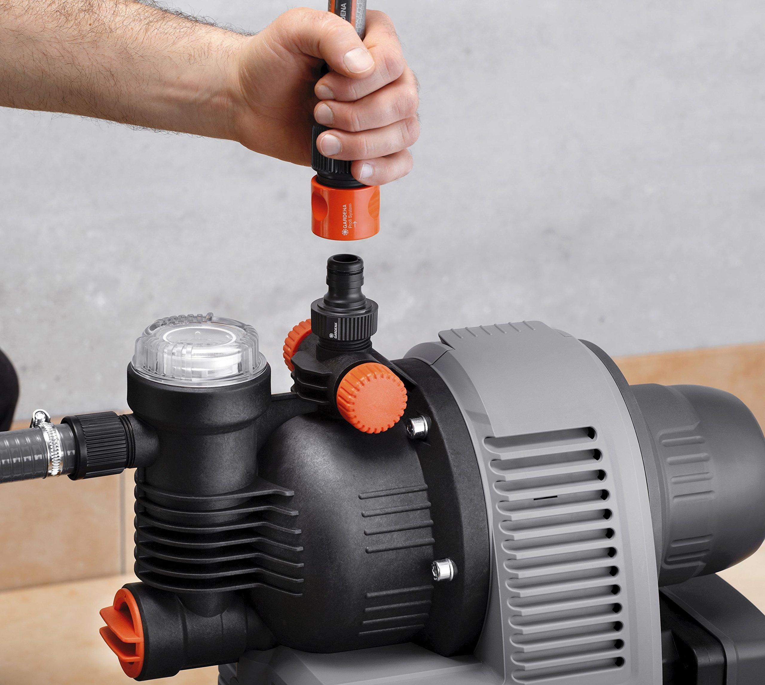 Gardena Classic Hauswasserwerk 3000/4 eco: Hauswasserpumpe mit Thermoschutzschalter, max. Fördermenge 2800 l/h (1753-20…