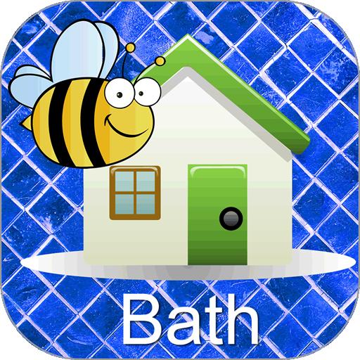 Words Around the HouseTM  - Bathroom- Video Flashcard Player