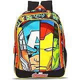 Marvel Avengers Super Heroes Faces 20 Ltrs 36 Cms Black & Red School Bag/Backpack