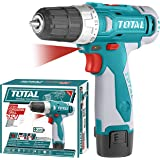 MR LIGHT TOTAL 12V Li-ion Cordless Drill with 1 Extra Battery and Carry Bag