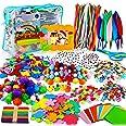 aovowog 1600+ Bricolage Enfant Cure Pipe Cleaners Crafts Kit,DIY Activites Manuelles Pompons Loisirs Creatifs,Jouets éducatif