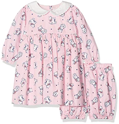 41ee5c07236c Rachel Riley Baby Girls' Kitten Peter Pan Collar Bloomers Dress and Shorts:  Amazon.co.uk: Clothing