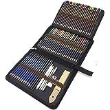 Matite di Disegno Artistico, 72 Kit Matite da schizzo e Matite Colorate di Grafite di Carbonio Matite di Legno, Fornire a Art