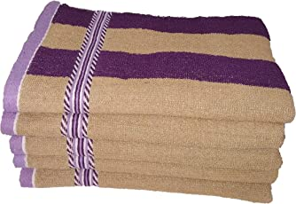 Shop by Room Terry Weave 100% Cotton Quick Dry Hand Towel - Set of 5-12 x 20 inch - Purple, Brown