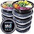 Igluu Meal Prep - [Lot de 10 Boîtes Alimentaires Rondes pour préparation des Repas - Réutilisables, sans BPA - Compatibles Mi