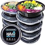 (Set di 10) Contenitori Per Alimenti Circolari Di Plastica Senza BPA Con Coperchi Di Chiusura Ermetica - Ciotole Impilabili E