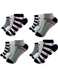 192f4ab3ff HighClassStyle 12 Paar Kids Jungen Socken Kinder Sneaker Strümpfe 95%  Baumwolle Bunt Gr. 23