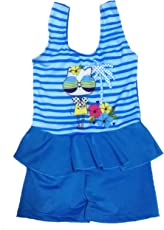 Kids Girls Swim Suit Cute Baby Tom Kitty Cartoon (Swimming Costume Swimwear)