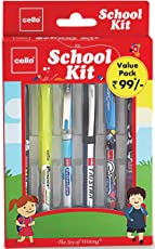 Cello School Kit Pen Set - Pack of 6 (Multicolor)
