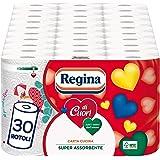 Regina di Cuori Carta Cucina | Confezione da 30 Rotoli | 50 fogli per rotolo* | Grande Assorbenza, Spessa e Resistente | Cart