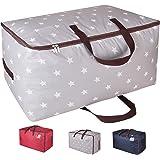 DOKEHOM 100L Sacs pour vêtements, étanche épais surdimensionnée Organiseur Sac de rangement, Sac de Voyage (Gris Star)