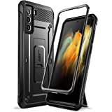 SUPCASE Unicorn Beetle Pro Series Case voor Samsung Galaxy S21 5g (6,2 inch), Dual Layer Robuuste Holster & Kickstand Case Zo